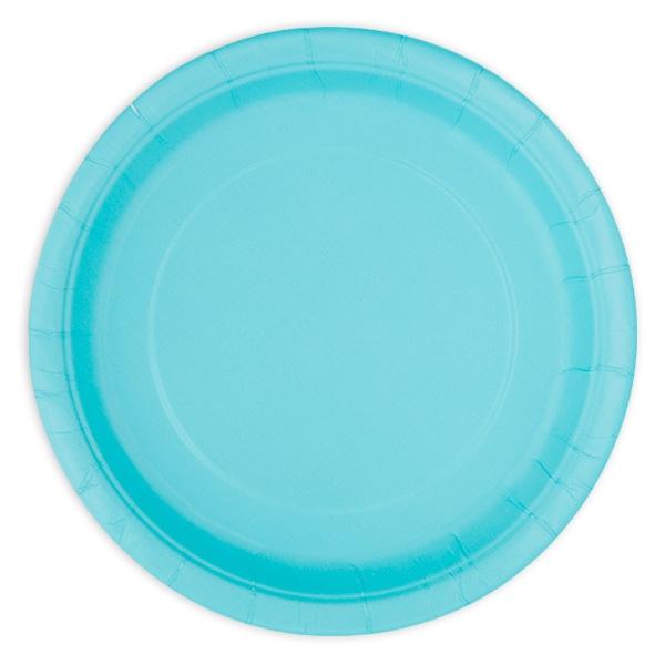 Pappteller hellblau, Durchm. ca.18cm, 8er-Pack
