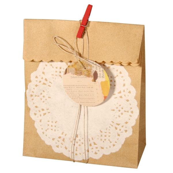 Geschenktüten +Deko & Band im Set mit 4 Geschenktaschen aus Papier