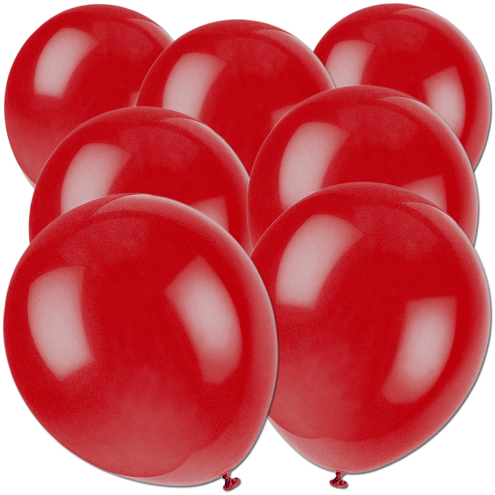 Luftballons dunkelrot, 50 St., 30cm, einfarbige Ballons, kräftiges Rot