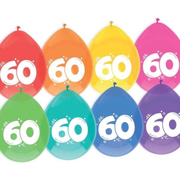"""Luftballons, bedruckt mit der Zahl """"60"""""""