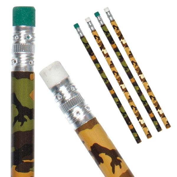 Bleistifte Tarnfarben, 12er Pck, mit Radiergummi-Ende