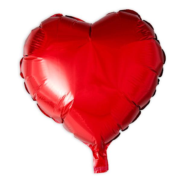 Herz-Folienballon rot, 36 cm