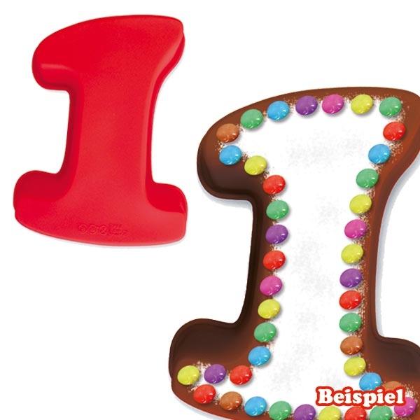 Zahlenbackform Zahl 1 aus Silikon