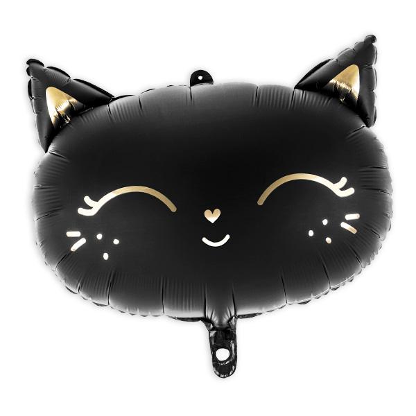 Folienballon Schwarze Katze, 48cm x 36cm