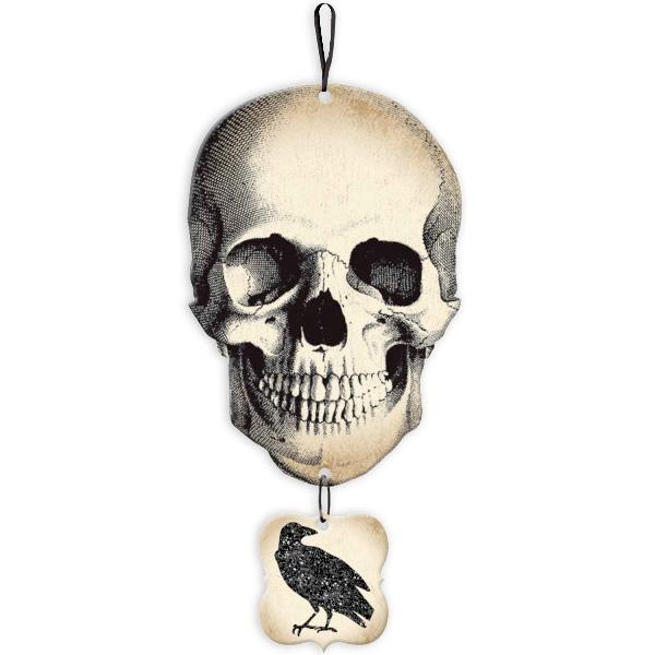 Totenschädel XL, Piraten-Totenkopf, Deko Halloween / Gruselparty, MDF