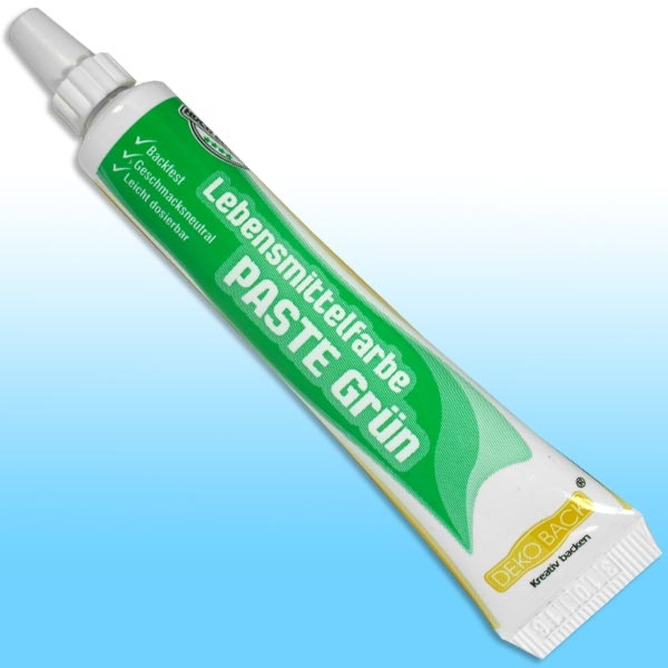 Grüne Lebensmittelfarbe als Paste, eine 25 g Tube