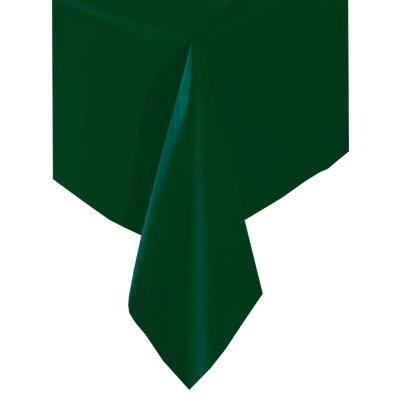 Tischdecke dunkelgrün, abwischbare Kunststofffolie, ca. 137x274cm