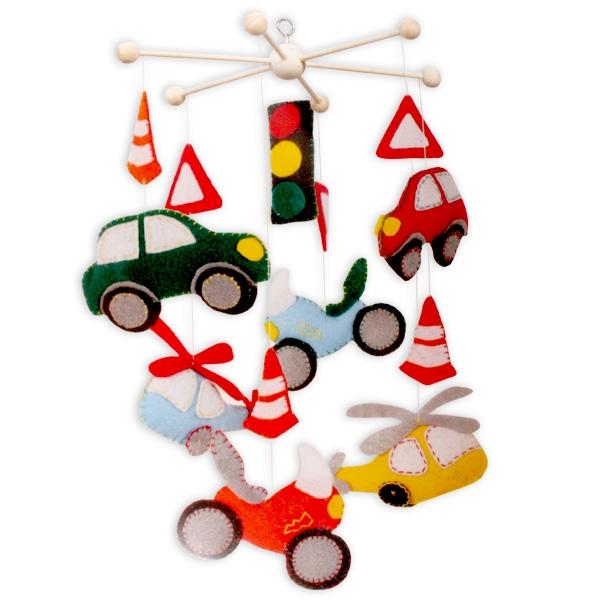 """Mobile-Set """"Fahrzeuge"""", 14 Teile, tolle Kinderzimmer Deko"""