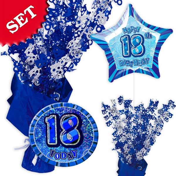 Partyset zum 18. Geburtstag - blau