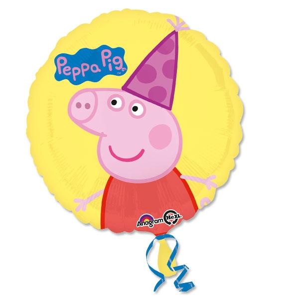 Peppa Pig Folieballon, 1 Stk, Ø 35cm