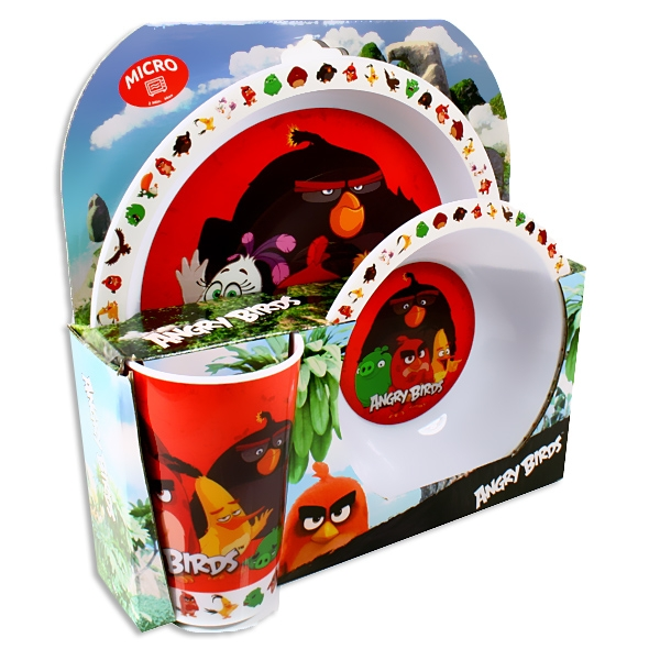 Kindergeschirr-Set Angry Birds, 3-tlg.