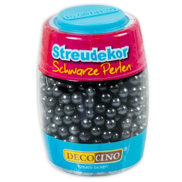 Zuckerperlen Farbe Glänzend Schwarz, 65g, Streudekor