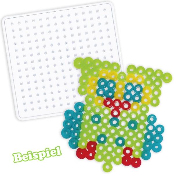 """Bügel-Perlen Starter Set """"Kids"""" mit quadratischer Schablone, 220 Perlen"""