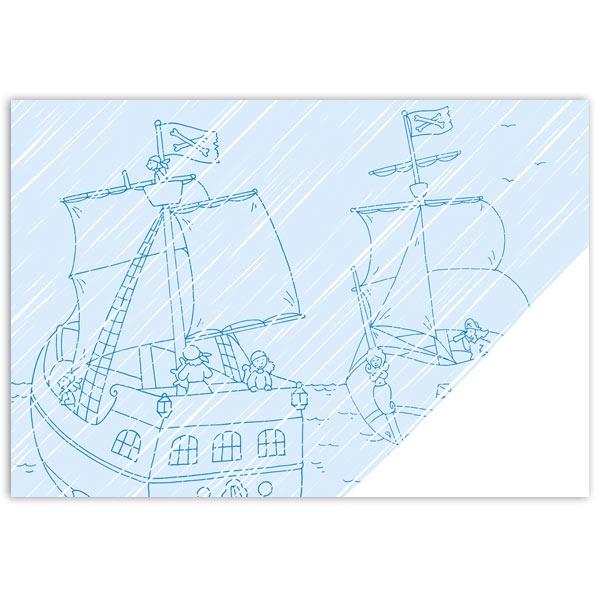 Piraten Zaubermalbuch, 32 Seiten mit Piratenbildern zum Ausmalen