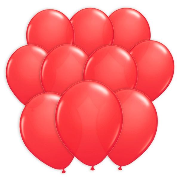 100 rote Luftballons, Ballons für Spiele und Deko aus Latex in Rot