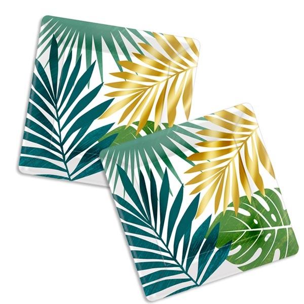 Tropical Summer Kuchenteller, 8 Stk, 18cm, Palmen Motiv
