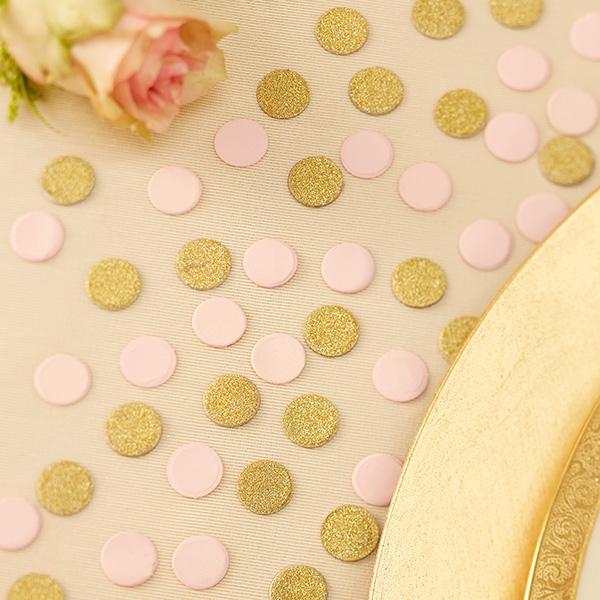 Golden glitzerndes und rosafarbenes Konfetti, 14g, Pappe