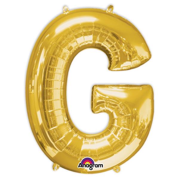 """Folienballon Buchstabe """"G"""" golden, für Namen oder Sprüche , 81×63cm"""