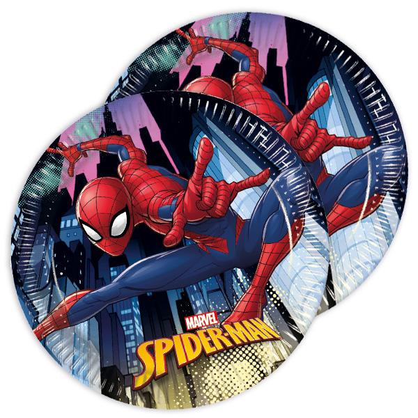 Spiderman Kuchenteller, 8 Stück, 19,5 cm
