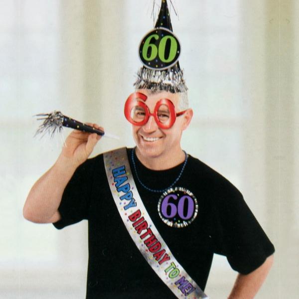 Maskerade-Set 60. Geburtstag, 6-teilig