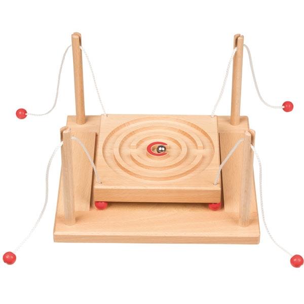 Kugelgeschicklichkeitsspiel Parcour, Holz, 19,3cm