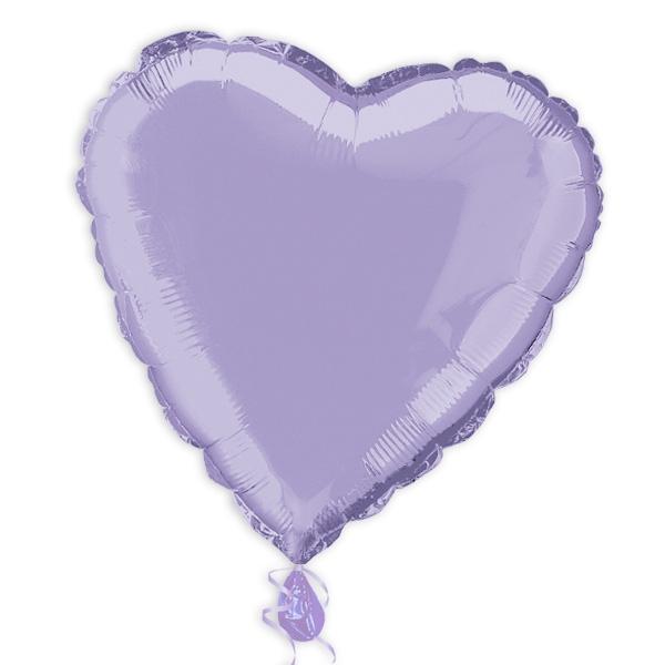 Herz-Folienballon lavendel 35 cm als Deko für Geburtstag oder Hochzeit