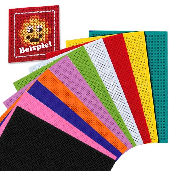 Stickfilze, 10 Stück in verschiedenen Farben, zum Besticken und Basteln
