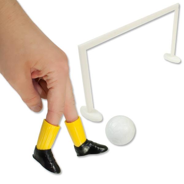 Finger-Fußballspiel Füße +Ball +Tor für lustigen Finger-Fußball, 1 Set