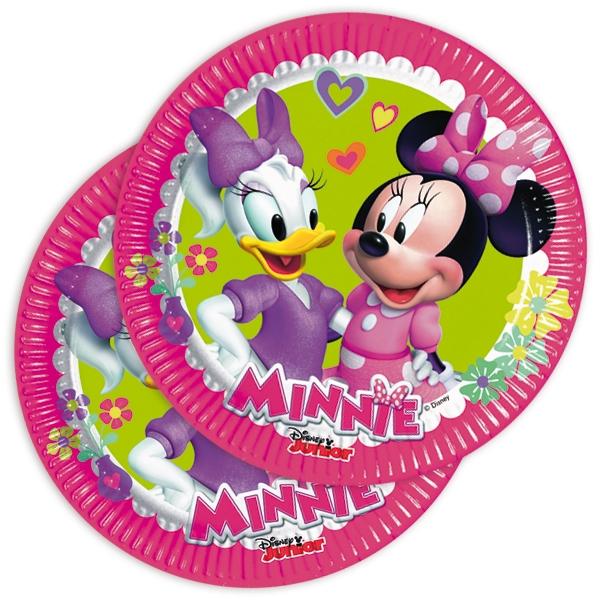 Minnie Kuchenteller, 6 Stück, 19,5cm, Pappteller mit Minnie Mouse & Daisy