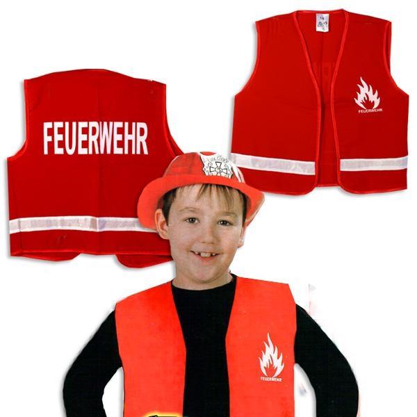 Feuerwehr-Weste Größe 128 Polyester für kleine stolze Feuerwehrmänner