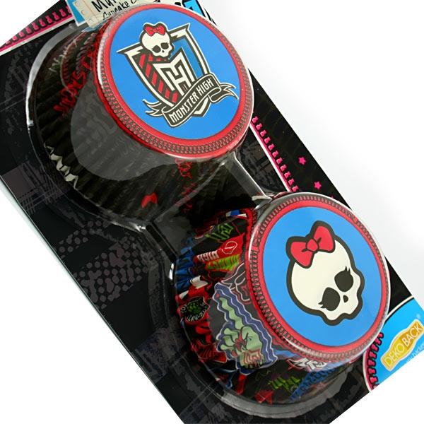 Muffinförmchen Monster High, 50 Stück in zwei Designs, für leckere Themenmuffins