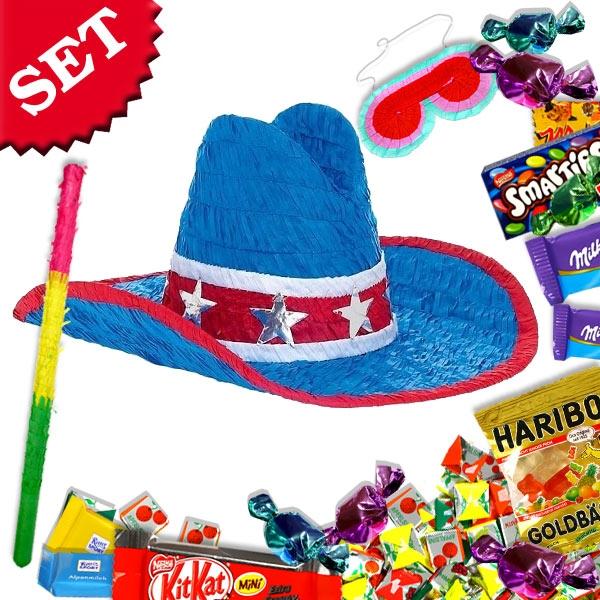 Cowboyhut Pinata Set +Süßes