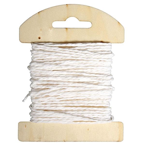 Papier Kordel 10m weiß, universell zum Basteln und Nähen, 1 Spule