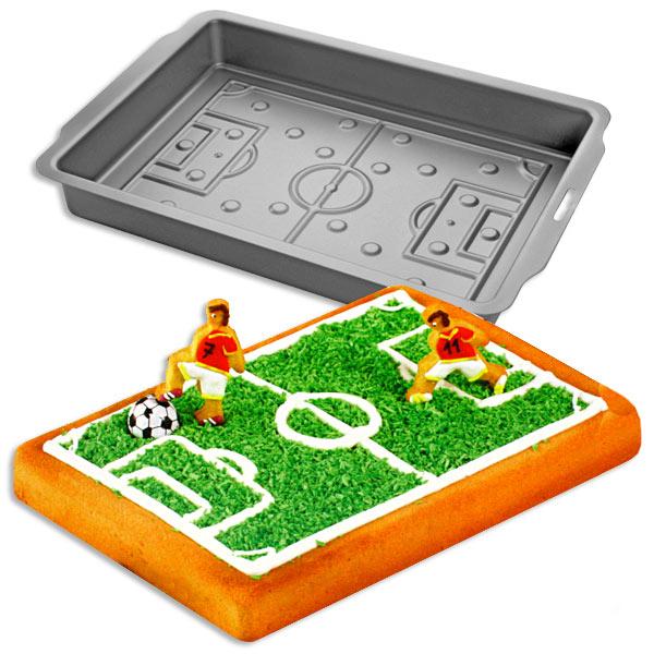 Motivbackform für Fußballfeld rechteckig, 30x22x4,5cm, antihaft