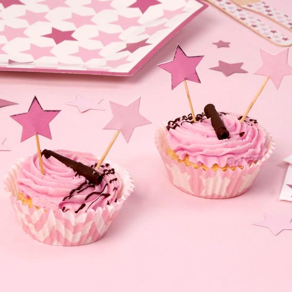 """Muffinformen """"Kleiner Stern"""" in rosa, 100 Stück"""