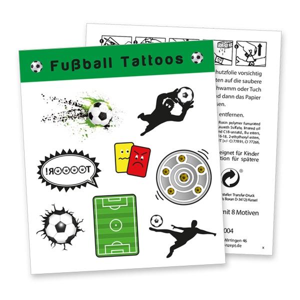 """Tattoobogen """"Fussball"""" mit 8 Tattoos"""