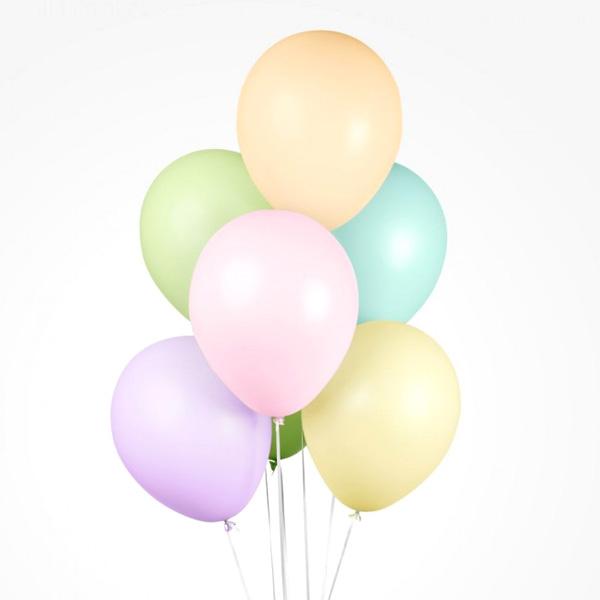 Luftballons in gemischten Pastellfarben, 10 Stk., 30cm