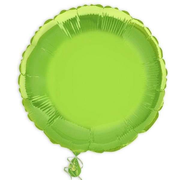 Folienballon Rund in hellgrün, Partydeko & Geschenk, Ø ca. 35cm