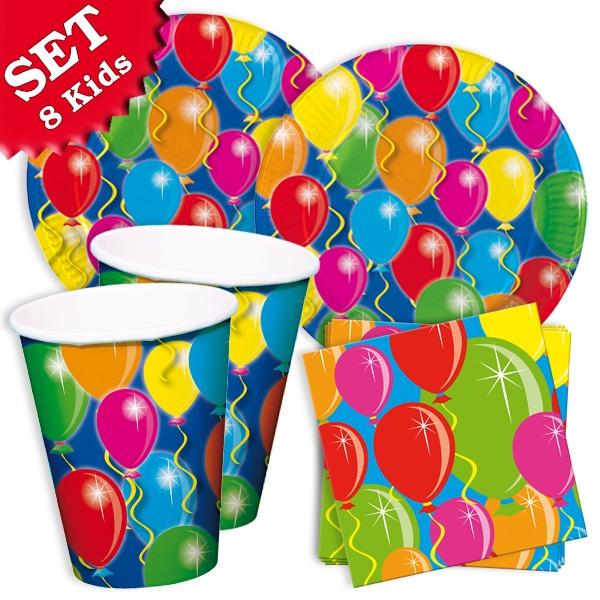 Luftballons Partyset, 36-tlg., 8 Kids