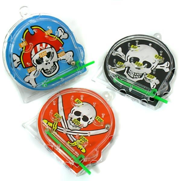 Piraten Pinballspiel Plastik, 6 cm, 1 Kugelspiel als Piraten-Mitgebsel