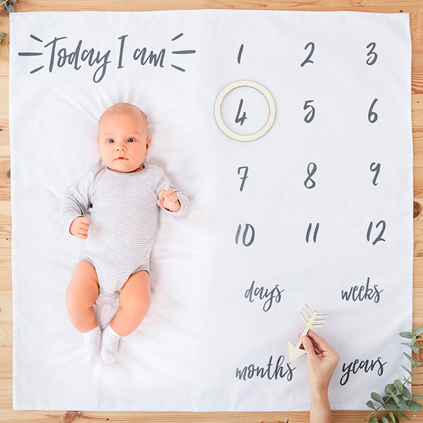 Babydecke als Fotohintergrund, 1 Stück