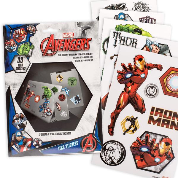 Avengers Tech-Sticker, selbstklebend, 33 Stück