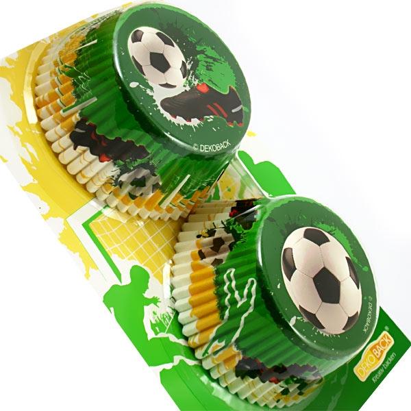 Fußball-Muffinsformen in 2 Designs, hitzebeständiges Papier, 50 Stück