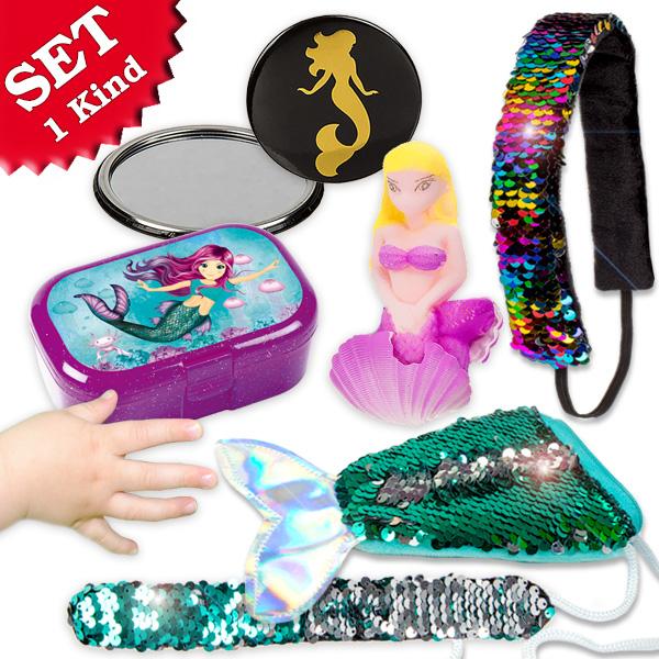 Meerjungfrau Geschenkset, für 1 Kind, 6 Teile