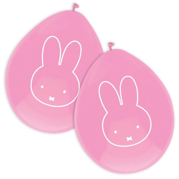 Miffy Luftballons in Rosa mit dem niedlichen Häschen im 6er Pack