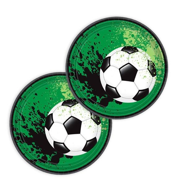 """Fussball """"GOAL"""" Partyteller, 8er Pck, 17,7cm"""