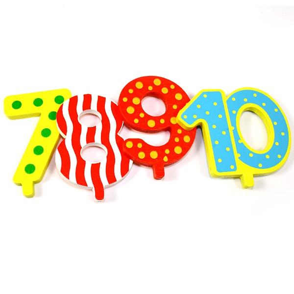 Geburtstagszug-Zahlen 7 bis 10, Goki
