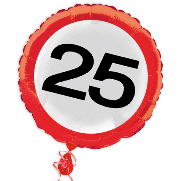 "Ballon ""Verkehrsschild"" zum 25. Geburtstag"