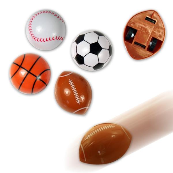 Flitzer-Ball, halbrund, mit Rückzug