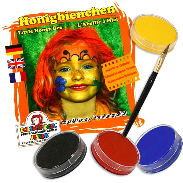 Schminkset Honigbiene für Kinder mit Schminkfarben und Pinsel im Set